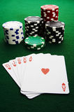 Royal flush. The best poker hand, royal flush Royalty Free Stock Photo