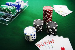 Royal flush. The best poker hand, royal flush Royalty Free Stock Images