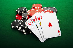 Royal flush. The best poker hand, royal flush Royalty Free Stock Image