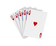 Royal flush. Poker cards. Digitally generated image royalty free illustration