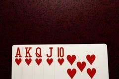 Royal flush. Best combination in poker good for background Stock Image