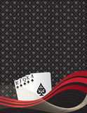 Royal Flush. Themed background, fun and lively vector illustration