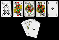 The royal flush Stock Photography