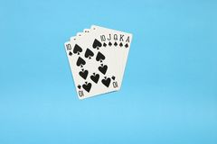 Royal Flush. On the table Royalty Free Stock Image