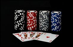 Royal flush 2 Poker game Stock Photos