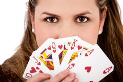 Royal flush Stock Image