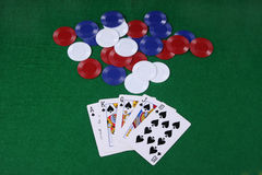 A royal flush Royalty Free Stock Photo