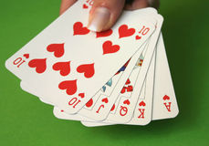 Royal Flush #5 stock photo