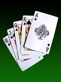 A royal flush Royalty Free Stock Images