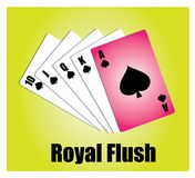 Royal Flush. Winner Card A royalty free illustration