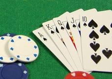 Royal Flush. The perfect poker hand... a royal flush Royalty Free Stock Photos