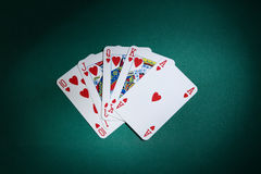 Royal flush ambient Royalty Free Stock Photography