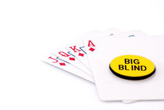 Royal flush big bling Royalty Free Stock Images