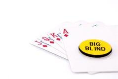 Royal flush big bling. White background Royalty Free Stock Images