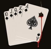 Royal Flush Bleeding Royalty Free Stock Images