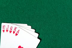 Royal Flush card sequence Stock Image