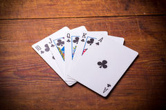 Royal Flush clubs Royalty Free Stock Image