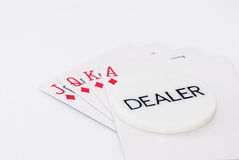 Royal flush dealer Stock Photography