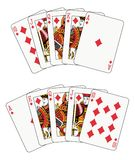 Royal Flush diamond Stock Photography