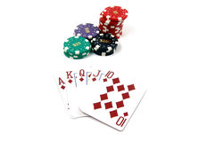 Royal Flush Diamonds stock photo