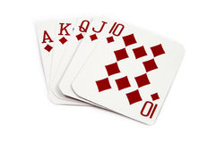 Royal Flush Diamonds Stock Image