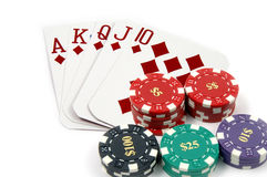 Royal Flush Diamonds Stock Photography