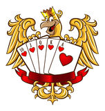 Royal Flush Eagle Royalty Free Stock Image