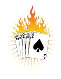 Royal Flush on Fire! Vector / Clip Art. A vector image of a Royal Flush on Fire. Eps 8 Stock Photo
