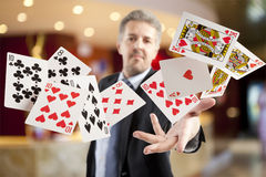 Royal flush and full house. Lucky You, Poker player, royal flush and full house Stock Image