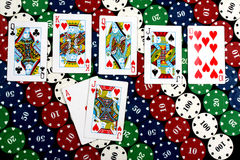 Royal Flush Hand Stock Photography