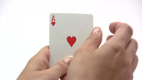 Royal Flush in Hand Royalty Free Stock Photography