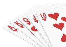 Royal flush heart Stock Photo