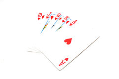 Royal flush - hearts Royalty Free Stock Images
