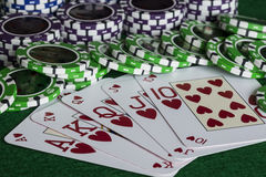 Royal flush Royalty Free Stock Images