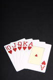 Royal flush with hearts Royalty Free Stock Photo
