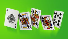 Royal flush - high resolution file Stock Image