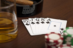 Royal flush Royalty Free Stock Photography