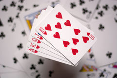Royal flush, the most 'beautiful combination poker Royalty Free Stock Photography