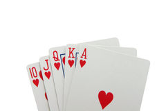 Royal flush with path Royalty Free Stock Image