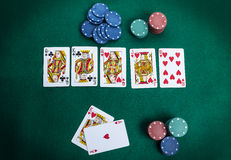 Royal flush Stock Photo