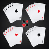 Royal flush Stock Photography