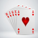 Royal flush playing cards Royalty Free Stock Image