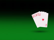 Royal flush playing cards  on the poker table. Casino concept Royalty Free Stock Photography