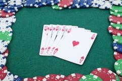 Royal flush in poker Royalty Free Stock Photos