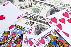 Royal flush in poker Royalty Free Stock Images
