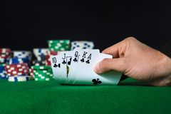 Royal Flush in poker Royalty Free Stock Photo