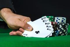Royal Flush in poker Stock Photos