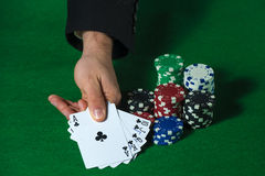 Royal Flush in poker Royalty Free Stock Photography