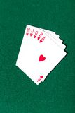 Royal Flush poker card sequence Stock Photo