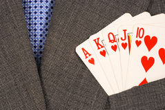 Royal flush from the poker cards Stock Photography